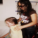Maddy getting a massage from the Clinic's blind physical therapist (ask me about her story, its amazing).