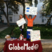 My campaigns co-coordinator and I fundraising on UT's campus!