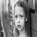 A sad orphan girl