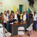 Siiri Morley, Executive Director, with our partners in Haiti