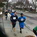 Bob running a 5K earlier this year with one of his students.