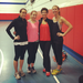 Nicole, Steph, and I with Sandra- the personal trainer who donated a bootcamp class for the Respite Center!