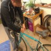 Getting my bike tuned up by the people's mechanic, Jason from Temescal Bikes.