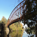 Schell Memorial Bridge, built in 1903 and closed in 1987. Friends want to make it a hiking and biking bridge.