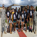 Leaders-In-Training members with ROTC officers
