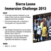 Sierra Leone Immersion Challenge 2013
