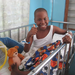 Child with clubfoot treated in our last mission to Haiti