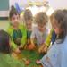 Preschoolers paint