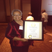 Rose Timmer receiving Governor's Volunteer Achievment Award