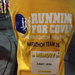 Keeping warm with my sweet Team Running for Cover shirt.  Austin was fairly tropical compared to Boston!