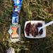 Nice way to finish a race with arroz con frijoles with a side of bling.