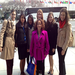 Youth delegates at the UN Commission on the Status of Women outside the US Mission to the UN in NYC on March 19, 2013
