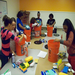 Assembling Emergency Clean-Up buckets for Super storm Sandy victims