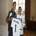 Wish child Salvador scores as he meets stars from Real Madrid soccer.