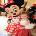 A Disney wish come true.  Wish child Evie shows Minnie Mouse her matching dress.