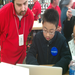 Apple Store employees give wish child Nicholas VIP treatment as he sets up his new laptop.