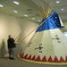 A Lakota-style lodge set up in the museum.