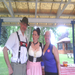 Tom & Gretchen Twiss at our final rest stop on the century day - complete with apple strudel, sausage, & Nutella