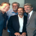BT Brian Turner, Jack Morris, Mark Benninghofen and Minneapolis Mayor R.T. Rybak at K-TWIN Radio