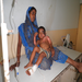 A mother and her child receive much needed medical treatment.