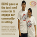 "ECHO's ""New American Vote"" program in Willmar, MN engaged the Latino community in the democratic process."