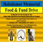 Ukrainian Holodomor Memorial Food & Fund Drive