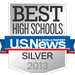 "We're proud to be recognized by U.S. News and World Report as a ""Best High School"""