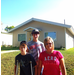 Waynette and her boys will soon have a place to call home. This Habitat recycle home has a bedroom being added on.