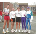 Lynn Jennings (Center) Franklin Park 1992 World Cross Country Champion. Group shot following Fresh Pond 5 mile race.