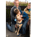 PAWS Service Dog for Children with Autism LEWIS and Client Elliot with his family