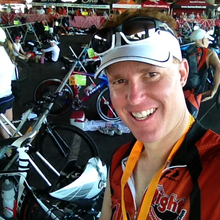Todd Martin Ironman Arizona 2014 for Sunshine Angels