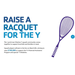 David Little fundraising for Raise a Racquet for the Y