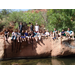 Campers enjoy a day in the sun at West Clear Creek near Sedona