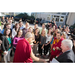 Kirk Hanson, Director of the Markkula Center for Applied Ethics, shares a laugh with the Dalai Lama and SCU students