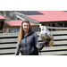 Americorps Member Ashley with our program snowy owl
