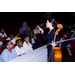 ASO cellist Mara McClain talks to students at a Young People's Concert