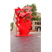 Flamenco by Ruth Aizuss Migdal, installed as part of the 2014 Columbus Indiana Sculpture Biennial