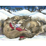 Size 150x150 12 jackie morris little red reading to the wild wolves