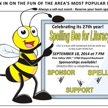 """Join Our """"Giving Hive"""" - Bee a Community Sponsor of the 27th Annual Spelling Bee"""