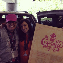 Amy and Parents raise money for their favorite non-profit The Cupcake Girls Portland!