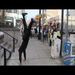 Cartwheels for a Cause!  On the streets of Trenton, raising money & awareness!