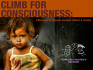 Climb for Consciousness: a movement to empower homeless children & families banner