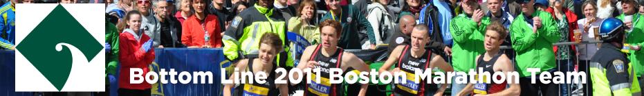 Bottom Line's 2011 Boston Marathon Team banner