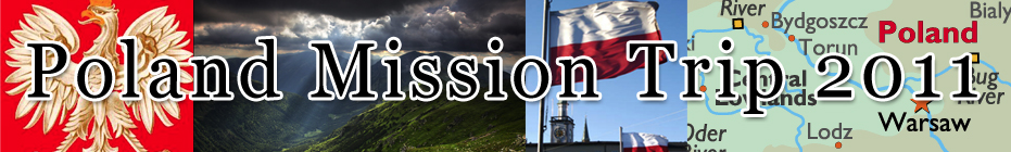 Poland Mission Trip 2011 banner