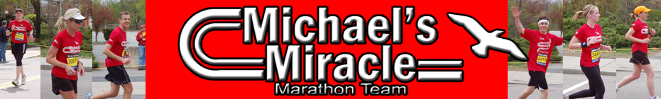 2012 Michael's Miracle Marathon Team banner