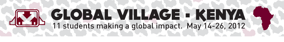 Habitat for Humanity at the U of M - Global Village Trip - Kenya banner