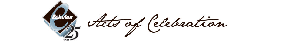 Echelon Design - Acts of Celebration banner
