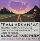 TEAM ARKANSAS! Riding for Safe Bike Routes in Arkansas & America. banner