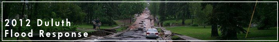 2012 Duluth Flood Recovery Fundraising banner