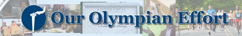 The Olympian Effort - Get Active, Change Lives! banner